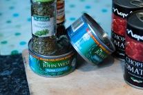 3 tins of tuna, oregano and chilli flakes