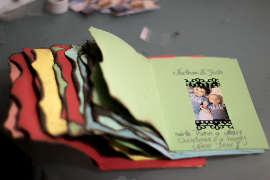 Burnt DIY Christmas Cards