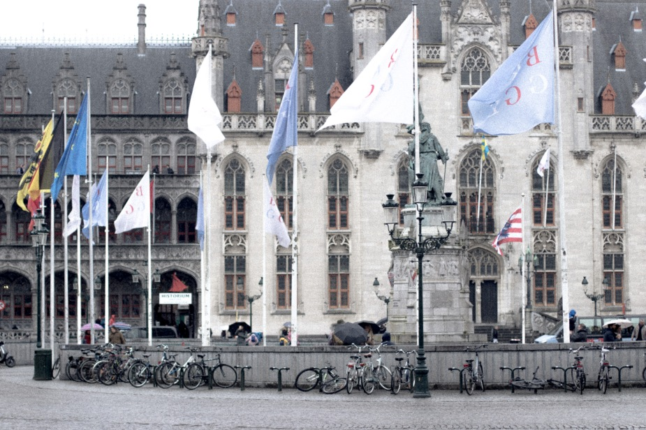 From our trip in the Market Square in Bruges, Belgium.