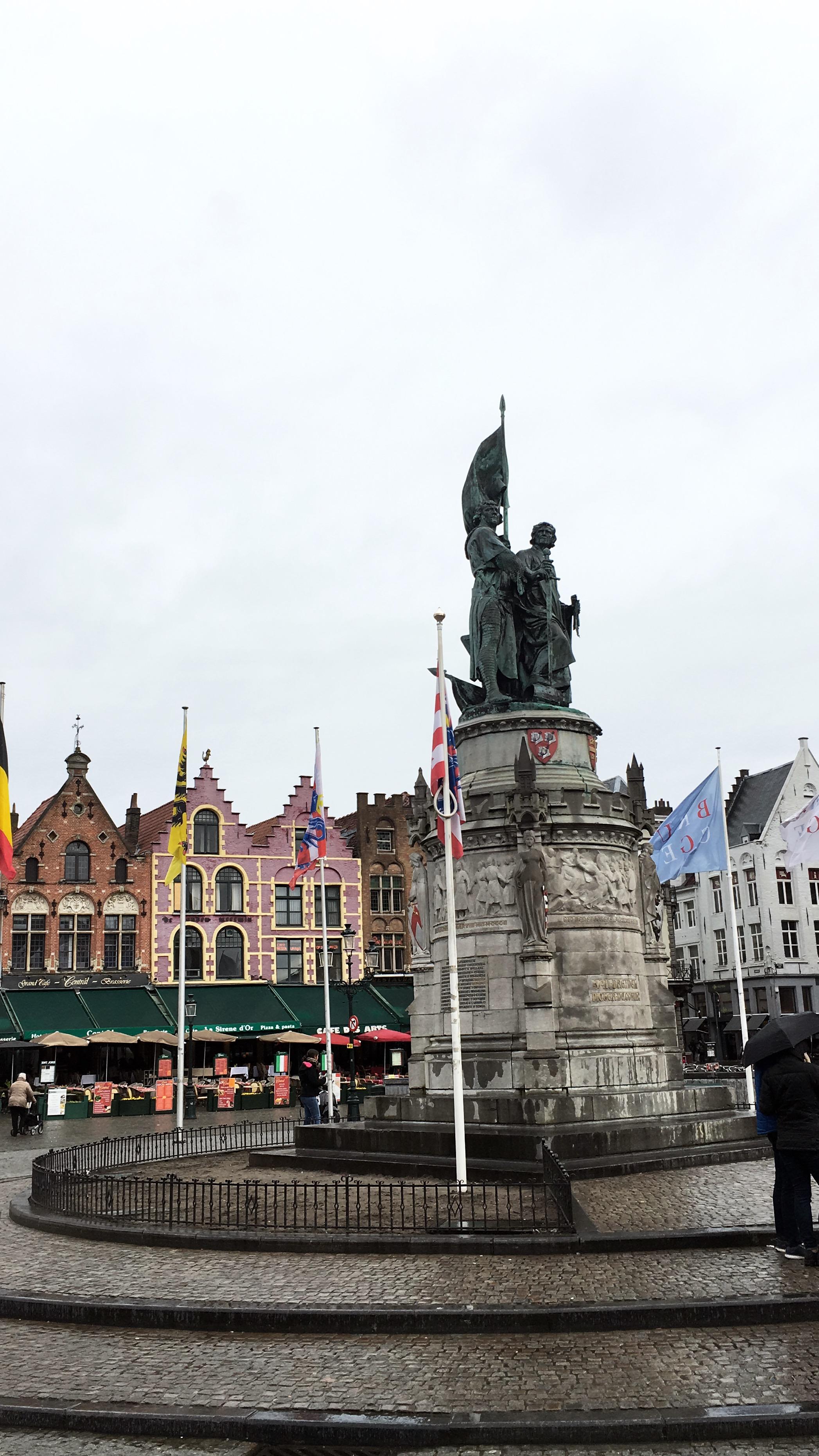 Market Square in Bruges, Belgium.