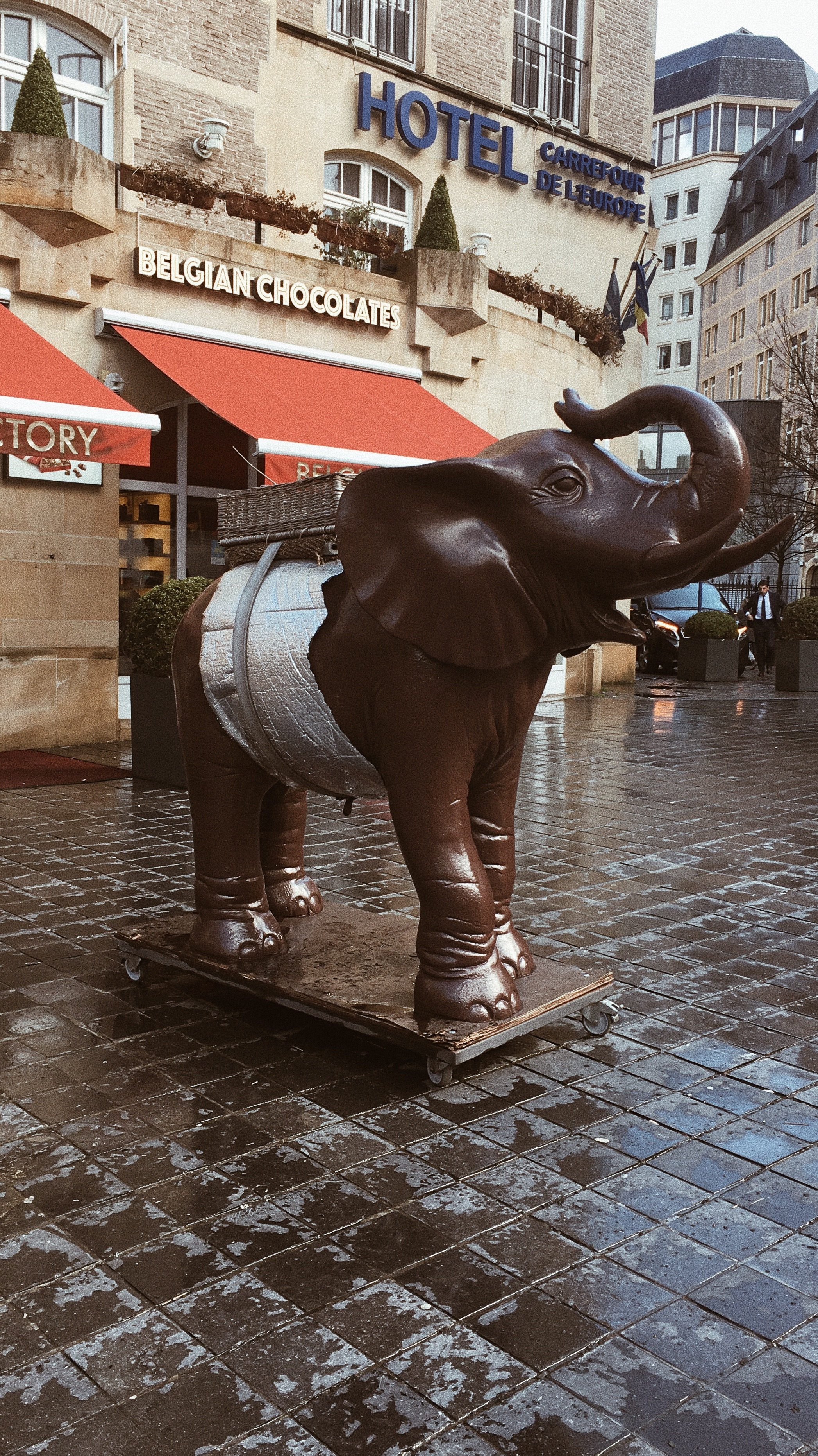 Elephant sculpture in the centre of Brussels.